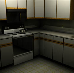 Graphical image of kitchen